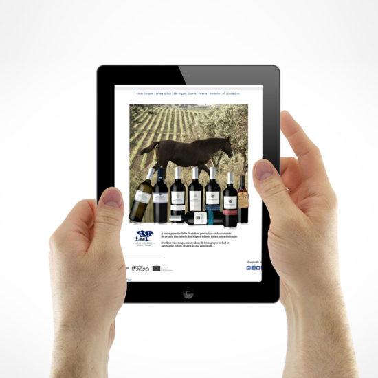 App Facebook para apresentação de gamas de vinho