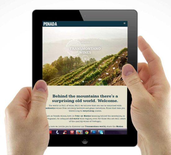 desenvolvimento de website e storytelling para vinhos transmontanos Penada