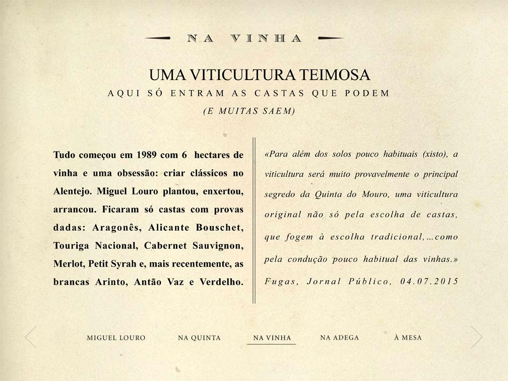 Tinta Amarela para demarcar: tagline, copywriting, digital media para Miguel Louro na Quinta do Mouro
