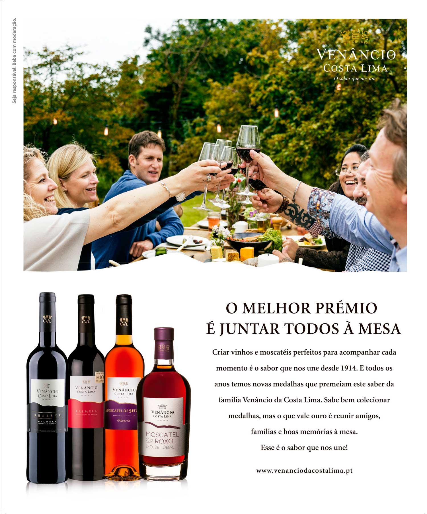 Anúncio de imprensa institucional VCL vinhos by Tinta Amarela